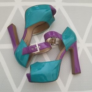 Shoedazzle Multicolored Kadian Platform Mary Jane